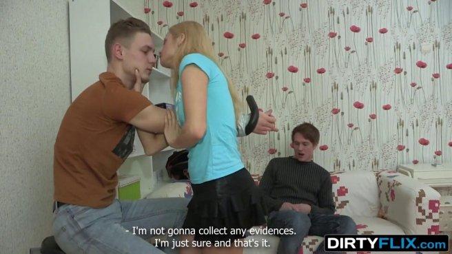 Девка связала мужа и заклеила ему рот скотчем, начав сосать соседу бритый хрен prew 4